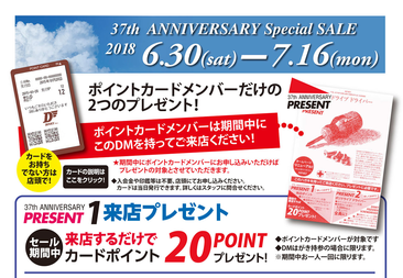 37th DINKY Inc Anniversary Saleを開催中!